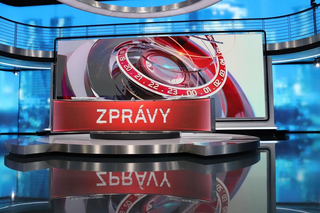 Hlavní zpravodajské studio, vybavené Samsung TV – jedna z největších obrazovek v Evropě, foto. Martin Petera
