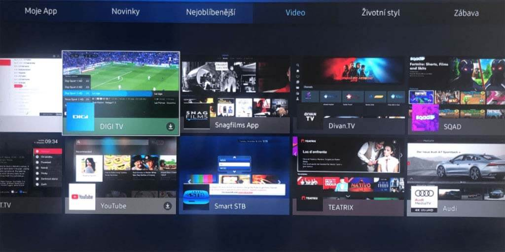 3869acb7a Jak funguje aplikace DIGI TV na chytrých televizích Samsung? Je víc ...