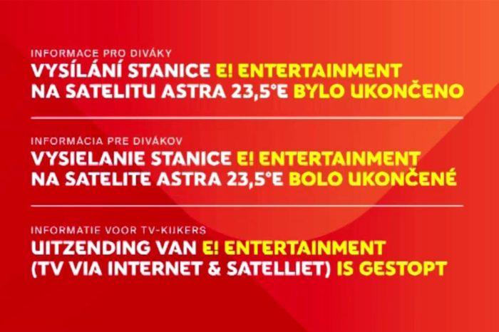 Ukončení vysílání programu E! Entertainment v platformě Skylink