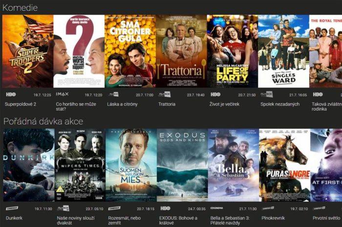 Platforma SledovaniTV nově nabízí videotéku od FilmBoxu